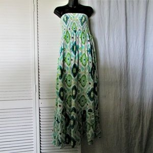 Old Navy strapless elastic bodice maxi dress L